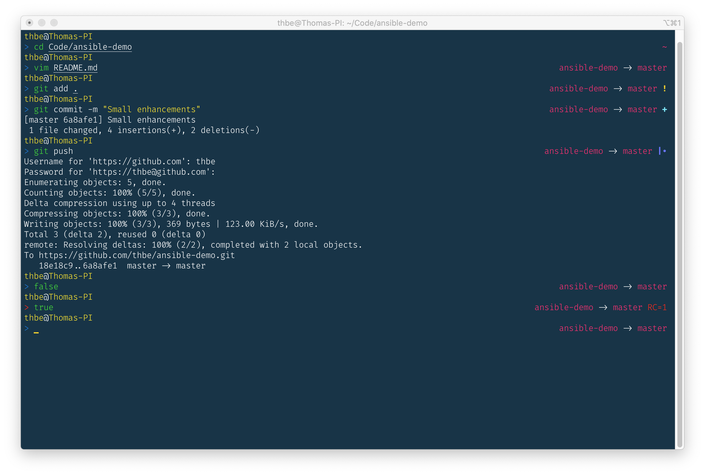 Customized lean Terminal with oh-my-zsh