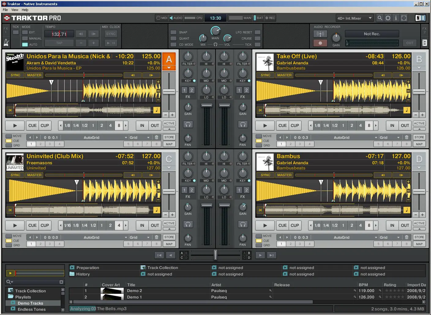 Traktor Pro main view extended