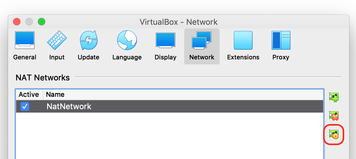 VirtualBox preferences