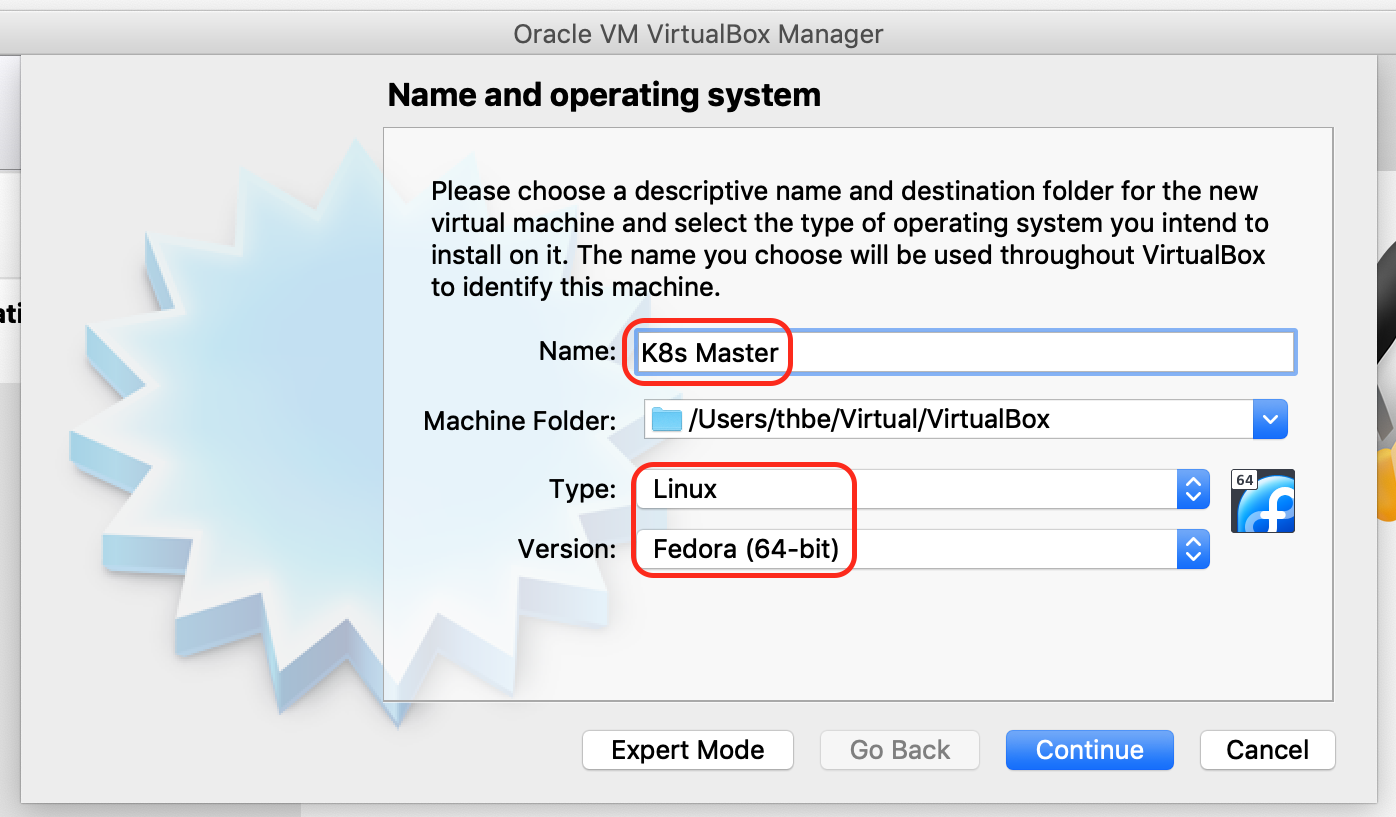 VirtualBox create master VM